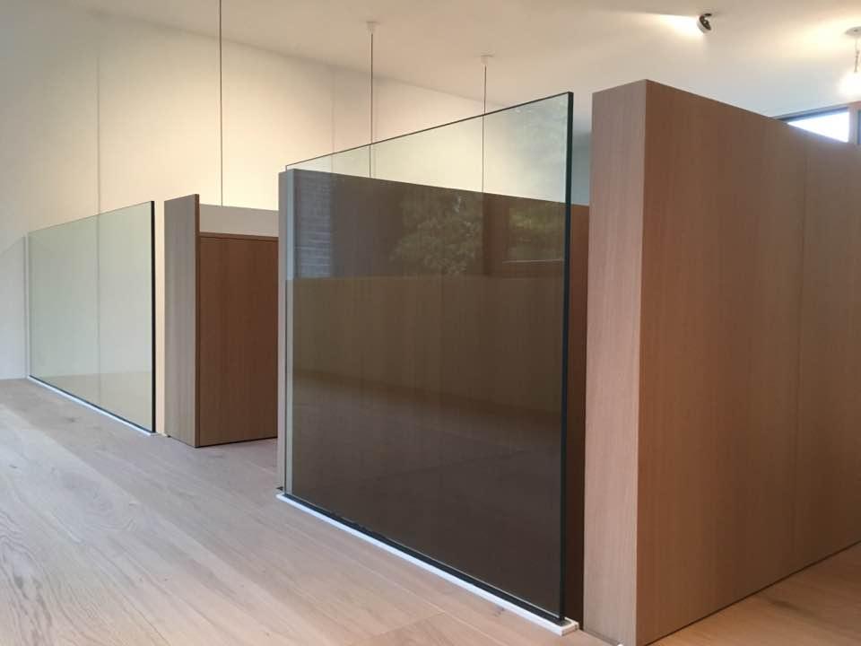 Raumteiler Glas Deltaglas Wien 1030