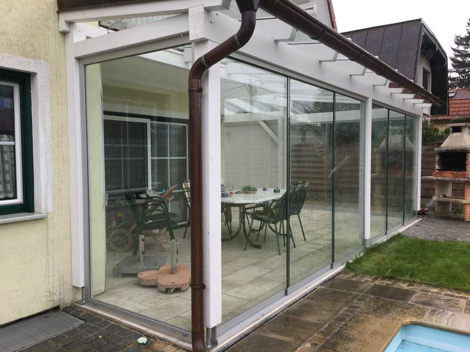 Wintergärten Glastrennwand Glaser wien