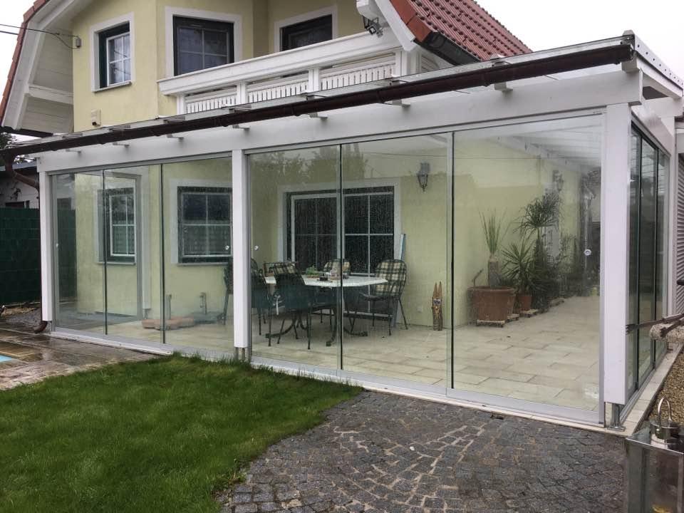 Wintergarten aus Glas - Deltaglas Glaserei Wien
