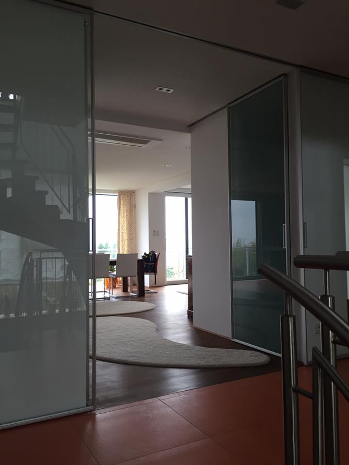 Wohnen mit Glas Innen